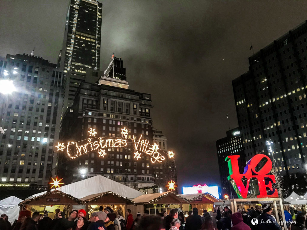 Christmas Village Love Park.10 Things To See In Philly In The Winter Truth Of Traveling
